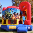 Robocar Combo Bouncy Castle Slide Hire
